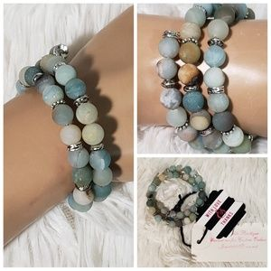 Beautiful Gemstone Memory Wire Bracelet